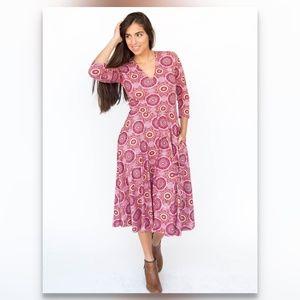 Curie Dress - Pink Mandala Print